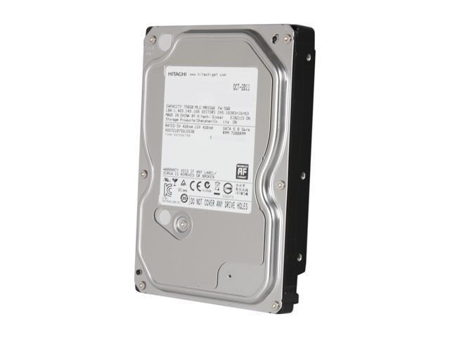 "Hitachi GST Deskstar 7K1000.D HDS721075DLE630 (0F13179) 750GB 7200 RPM 32MB Cache SATA 6.0Gb/s 3.5"" Internal Hard Drive Bare ..."