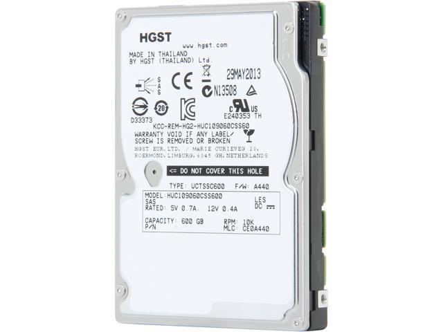 Hitachi GST Ultrastar C10K900 HUC109060CSS600 (0B26013) 600GB 10000 RPM 64MB Cache SAS 6Gb/s 2.5