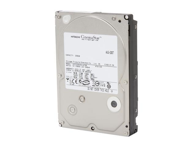"HGST CinemaStar 7K500 HCS725025VLAT80 250GB 7200 RPM 8MB Cache PATA 133 3.5"" Internal Hard Drive"