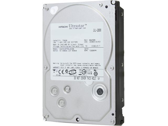 Hitachi GST Ultrastar A7K1000 HUA721075KLA330 (0A35771) 750GB 7200 RPM 32MB Cache SATA 3.0Gb/s 3.5