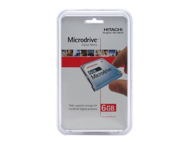"Hitachi GST Microdrive 3K6 HMS360606D5CF00 (MD6GB-BP) 6GB 3600 RPM 128KB Cache CF+ Type II 1"" Hard Drive"