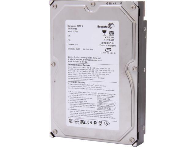 "Seagate Barracuda 7200.8 ST3400832A 400GB 7200 RPM 8MB Cache IDE Ultra ATA100 / ATA-6 3.5"" Internal Hard Drive Bare Drive"