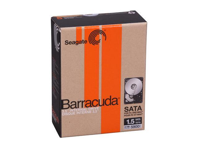 "Seagate Barracuda ST315005N4A1AS-RK 1.5TB 5900 RPM 32MB Cache SATA 3.0Gb/s 3.5"" Internal Hard Drive Retail Kit"
