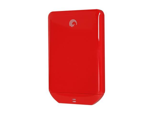Seagate FreeAgent GoFlex 500GB USB 2.0 Ultra-Portable Hard Drive (Red)