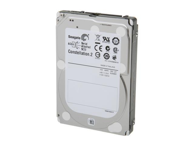 "Seagate Constellation.2 ST9500620SS 500GB 7200 RPM 64MB Cache SAS 6Gb/s 2.5"" Internal Enterprise-class Hard Drive Bare Drive"