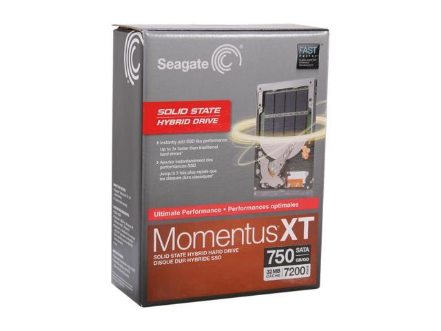 """Seagate Momentus XT STBD750100 750GB 7200 RPM 32MB Cache SATA 6.0Gb/s 2.5"""" Solid State Hybrid Drive Retail kit"""