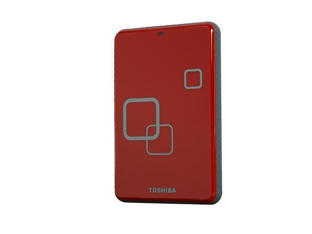 "TOSHIBA Canvio 500GB USB 2.0 2.5"" Portable Hard Drive Rocket Red"