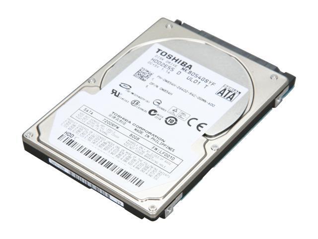 TOSHIBA MK8054GSYF 80GB 7200 RPM 16MB Cache SATA 3.0Gb/s 2.5
