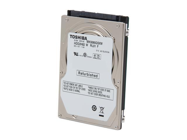 "TOSHIBA MK5065GSXW 500GB 5400 RPM 8MB Cache SATA 3.0Gb/s 2.5"" Internal Notebook Hard Drive Bare Drive"