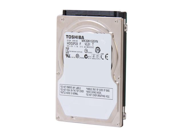 "TOSHIBA MK3261GSYN 320GB 7200 RPM 16MB Cache SATA 3.0Gb/s 2.5"" Internal Notebook Hard Drive Bare Drive"