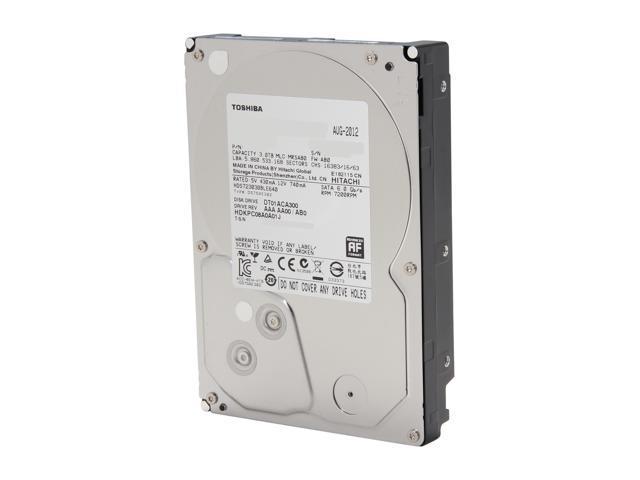 TOSHIBA DT01ACA300 3TB 7200 RPM 64MB Cache SATA 6.0Gb/s 3.5