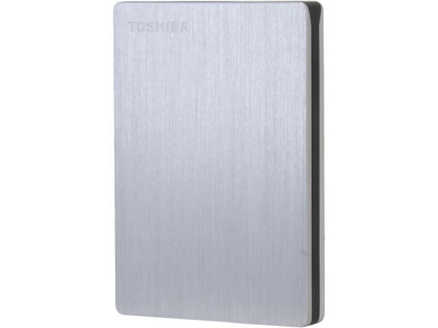 TOSHIBA 1TB Canvio Slim II Portable External Hard Drive for PCs USB 3.0 Model HDTD210XS3E1 Silver