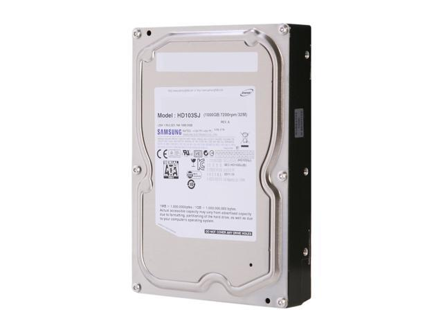 "SAMSUNG Spinpoint F3 ST1000DM005/HD103SJ 1TB 7200 RPM 32MB Cache SATA 3.0Gb/s 3.5"" Internal Hard Drive Bare Drive"