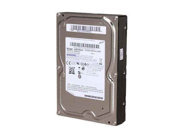 """SAMSUNG HD754JJ 750GB 7200 RPM 32MB Cache SATA 3.0Gb/s 3.5"""" Internal Hard Drive Bare Drive"""
