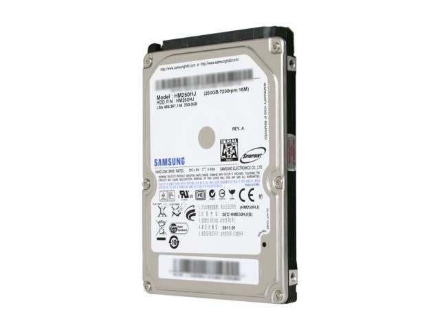 SAMSUNG Spinpoint MP4 HM250HJ 250GB 7200 RPM 16MB Cache SATA 3.0Gb/s 2.5