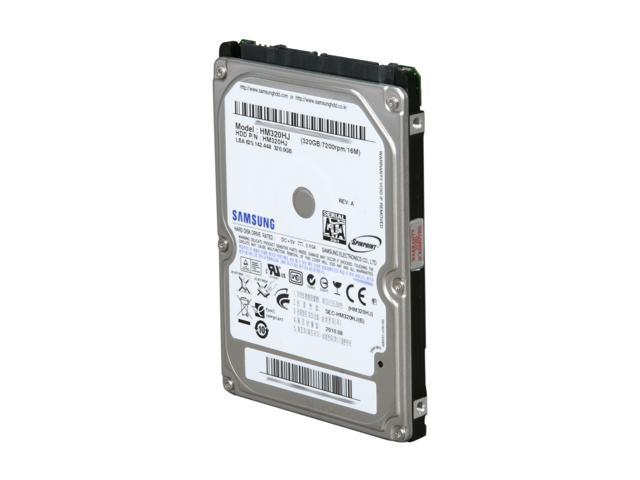 SAMSUNG Spinpoint MP4 HM320HJ 320GB 7200 RPM 16MB Cache SATA 3.0Gb/s 2.5