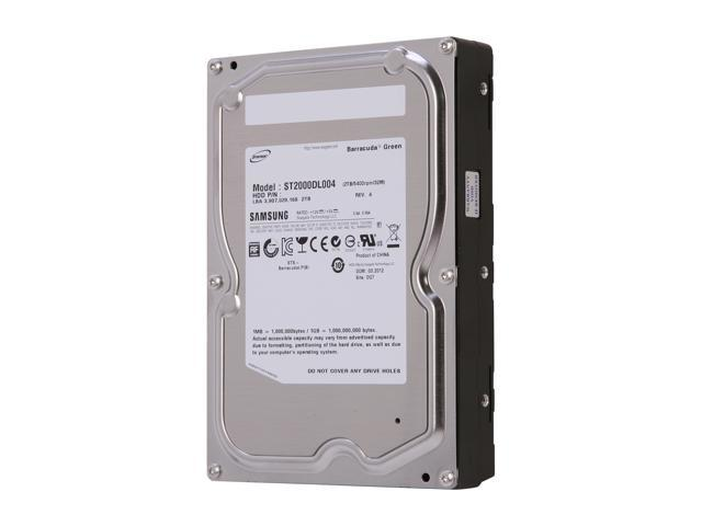 "SAMSUNG EcoGreen F4 ST2000DL004 2TB 32MB Cache SATA 3.0Gb/s 3.5"" Internal Hard Drive Bare Drive"