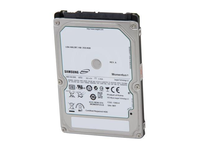 "SAMSUNG Spinpoint MP4 HM250HJ 250GB 7200 RPM 16MB Cache SATA 3.0Gb/s 2.5"" Internal Notebook Hard Drive Bare Drive"