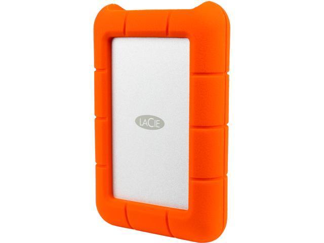 LaCie 4TB Rugged Mini External Hard Drive USB 3.0 Model LAC9000633 Orange