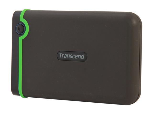 Transcend 1TB StoreJet 25M3 Military-grade Shock Resistance Portable External Hard Drive USB 3.0 Model TS1TSJ25M3 Iron Gray