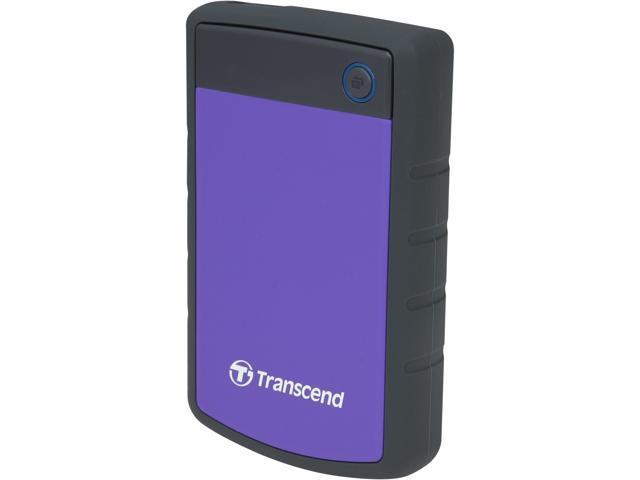 Transcend 2TB StoreJet 25H3 Military-grade Shock Resistance Portable External Hard Drive USB 3.0 Model TS2TSJ25H3P Purple