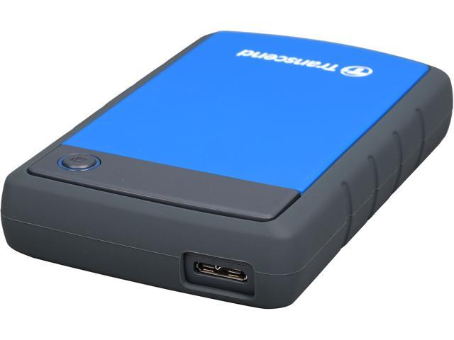 Transcend 2TB StoreJet 25H3 Military-grade Shock Resistance Portable External Hard Drive USB 3.0 Model TS2TSJ25H3B Blue