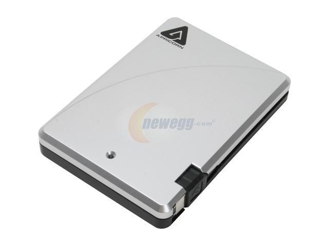 Apricorn 160GB portable Firewire Hard drive w/integrated cable and 4-6 Pin power adapter