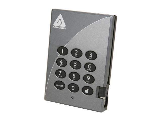 APRICORN Aegis Padlock 1TB USB 2.0 External Hard Drive A25-PL256-1000
