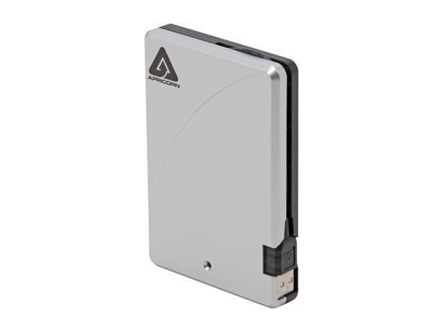 APRICORN 1TB Aegis Portable External Hard Drive USB 2.0 Model A25-USB-1000 Black