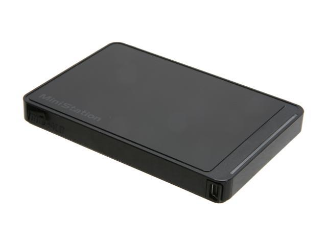 BUFFALO 500GB MiniStation Stealth External Hard Drive USB 2.0 Model HD-PCT500U2/B Black