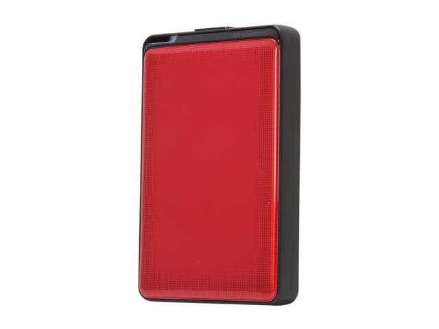 "BUFFALO MiniStation Plus 500GB USB 3.0 2.5"" Portable Hard Drive Red"