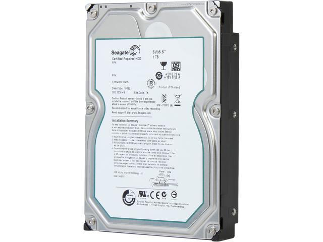 "Seagate SV35 Series ST31000526SV 1TB 7200 RPM 32MB Cache SATA 6.0Gb/s 3.5"" Internal Hard Drive -Manufacture Recertified"