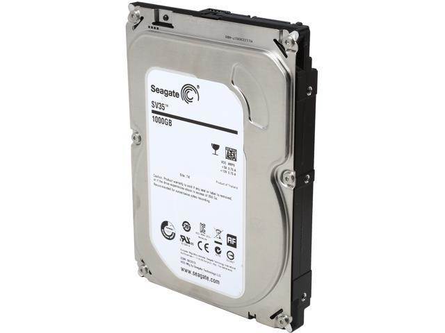 Seagate SV35.6 Series ST1000VX000 1TB 7200 RPM 64MB Cache SATA 6.0Gb/s 3.5