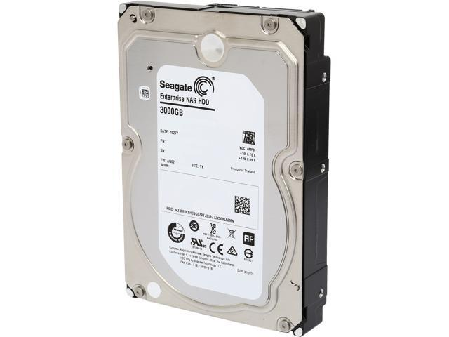 Seagate Enterprise NAS ST3000VN0001 3TB 7200 RPM 128MB Cache SATA 6.0Gb/s 3.5