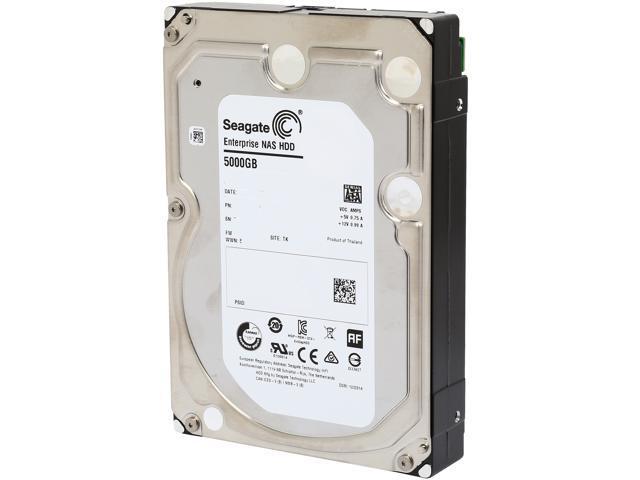Seagate Enterprise NAS ST5000VN0001 5TB 7200 RPM 128MB Cache SATA 6.0Gb/s 3.5