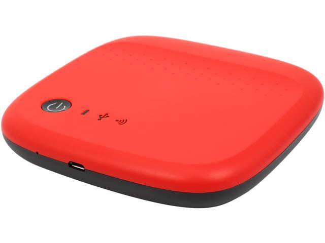 Seagate 500GB Wireless Mobile External Hard Drive STDC500402 Red