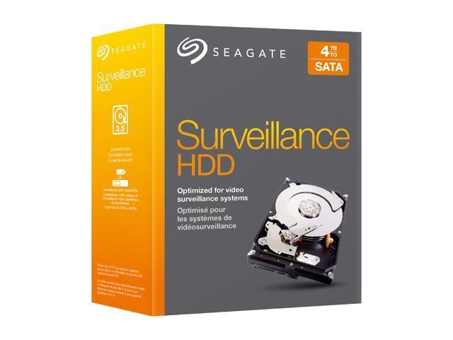 Seagate Surveillance HDD STBD4000101 4TB SATA 6.0Gb/s Hard Disk Drive Kit
