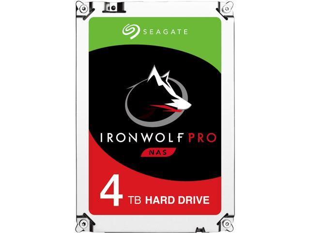 "Seagate IronWolf Pro ST4000NE0025 4TB 7200 RPM 128MB Cache SATA 6.0Gb/s 3.5"" Internal Hard Drive Bare Drive"