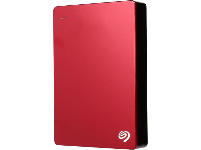 Seagate Backup Plus 5TB USB 3.0 Hard Drives - Portable External Model STDR5000103 Red