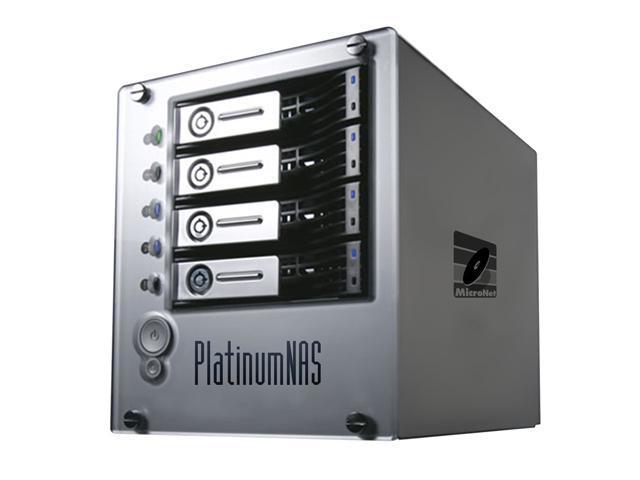 MicroNet PNAS1000P 1TB PlatinumNAS Plus Dual gigabit ethernet Network Attached RAID Storage