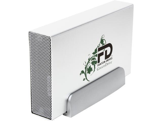 Fantom Drives GreenDrive3 5TB USB 3.0 Aluminum Desktop External Hard Drive GD5000U3 Silver