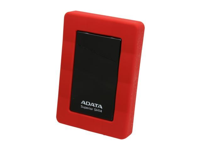 ADATA SH14 500GB USB 3.0 Red Water Resistant/Shockproof Portable Hard Drive ASH14-500GU3-CRD