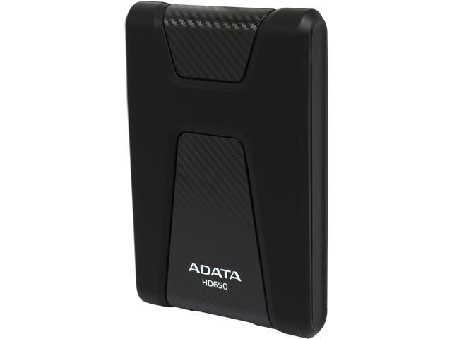 ADATA 2TB DashDrive Durable HD650 Portable Hard Drive USB 3.0 Model AHD650-2TU3-CBK Black