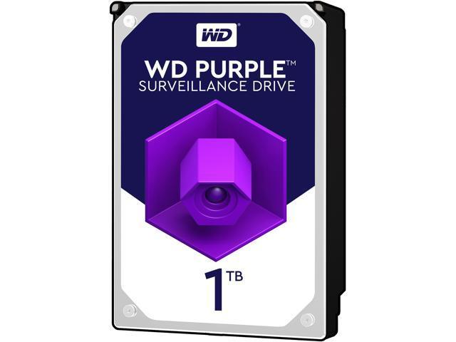 WD Purple 1TB Surveillance Hard Disk Drive - 5400 RPM Class SATA 6Gb/s 64MB Cache 3.5 Inch WD10PURZ