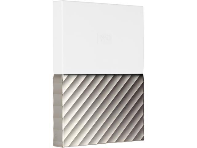 WD 1TB My Passport Ultra Portable Storage with Metal Finish USB 3.0 Model WDBTLG0010BGD-WESN White - Gold