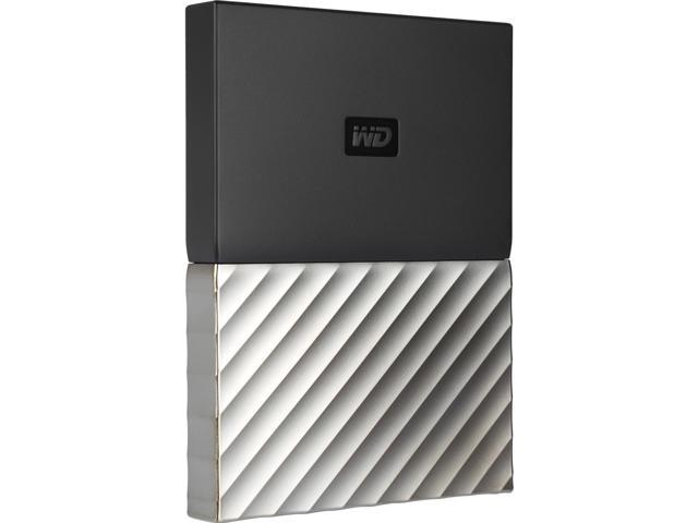 WD 1TB My Passport Ultra Portable Storage with Metal Finish USB 3.0 Model WDBTLG0010BGY-WESN Black - Gray