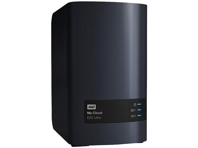 WD WDBVBZ0000NCH-NESN Diskless System 0TB My Cloud EX2 Ultra 2-bay Diskless NAS