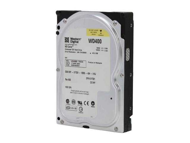 "WD WD400BB-75FJA1 40GB 7200 RPM IDE Ultra ATA100 / ATA-6 3.5"" Internal Hard Drive Bare Drive"