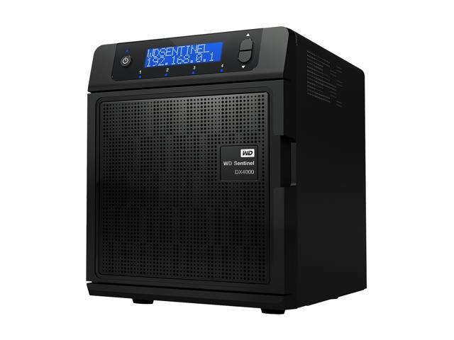 WD Sentinel DX4000 6TB (2x3TB) Small Business Storage Server NAS  WDBLGT0060KBK-NESN