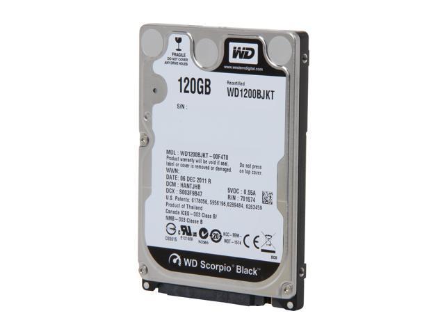 WD Scorpio Black WD1200BJKT 120GB 7200 RPM SATA 3.0Gb/s 2.5